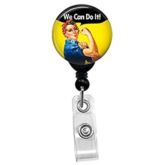 """Accessories - 🌻""""We Can Do It"""" Badge Reel 💪"""